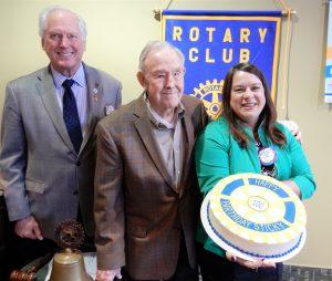 Terrific Happy 100Th Birthday Walter Sticky Burch Rotary Club Of Birthday Cards Printable Trancafe Filternl